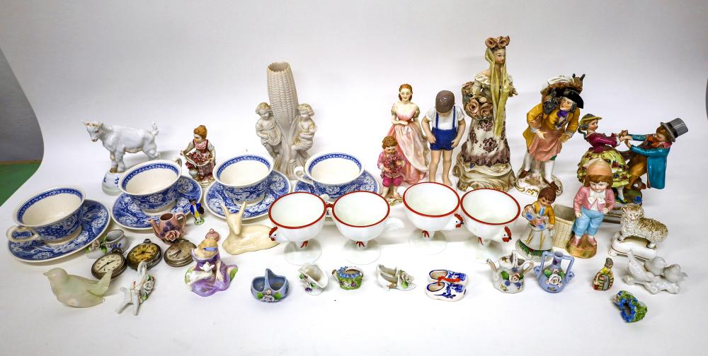 Wedgwood Cups and Saucers for the Pomona College and many Porcelain Figurines [138426]