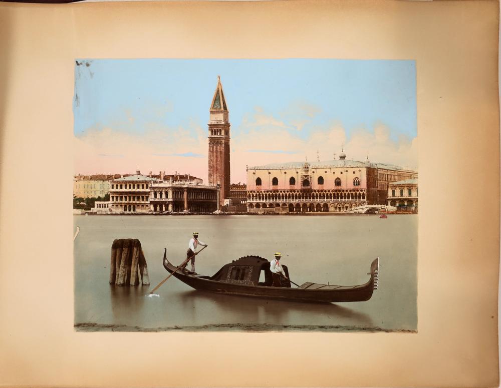 Hand Colored Photo Album of Venice [137883]