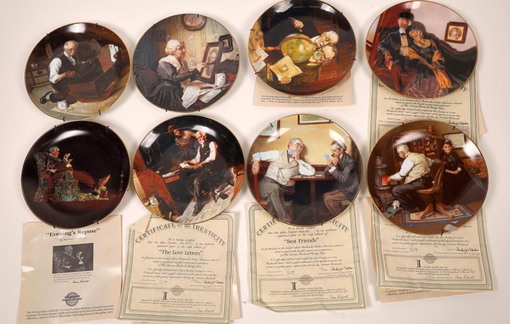 Rockwell Souvenir Plates (8) [139508]
