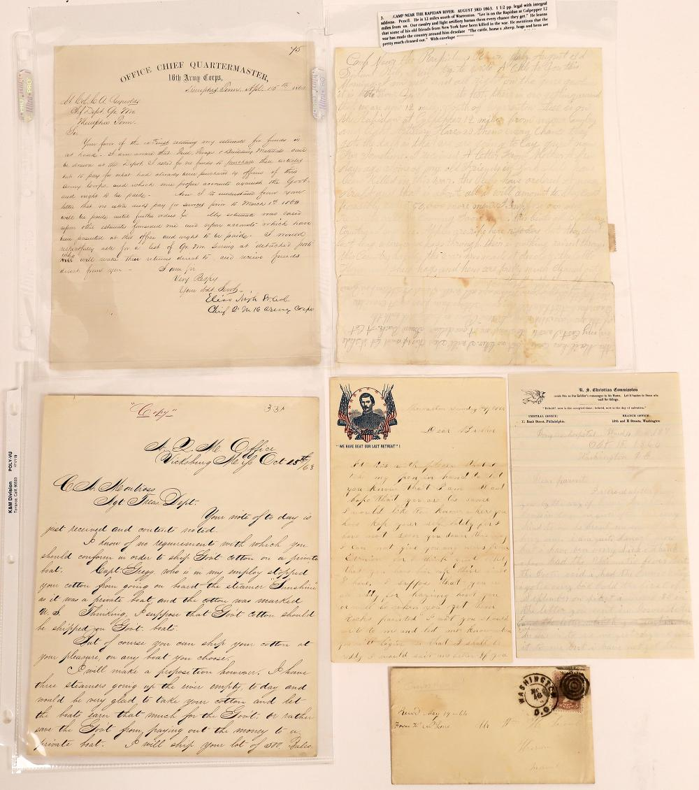 Collection of Five Civil War Letters [130555]
