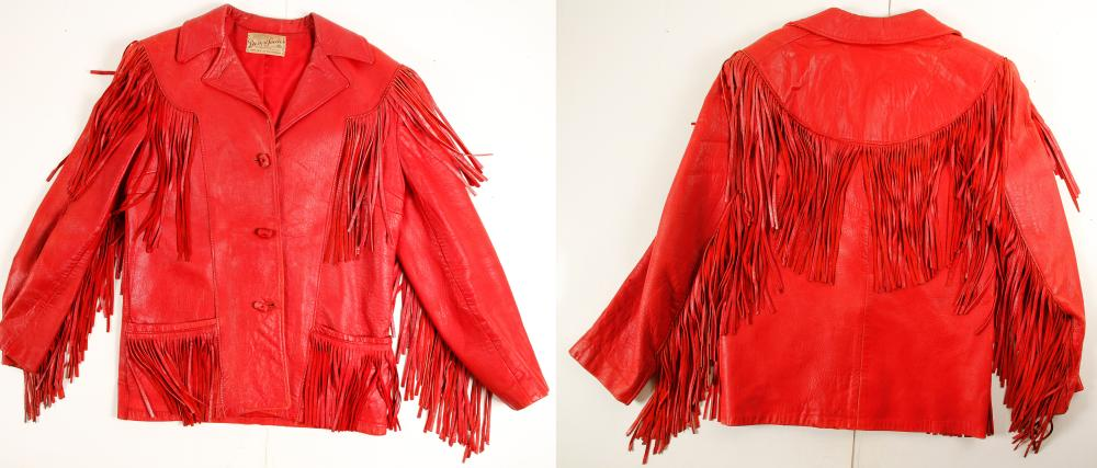 Red Leather Jacket Worn at McGill Club, NV   (73024)