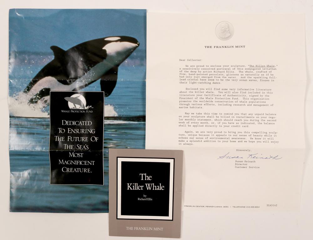 Lot 1036: Sculpture, The Killer Whale (105733)