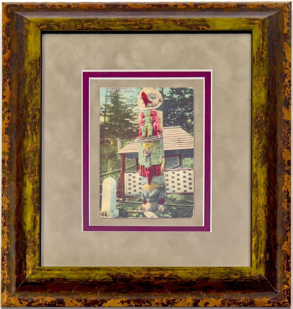 Totem Pole Post Card (Framed)   (102729)