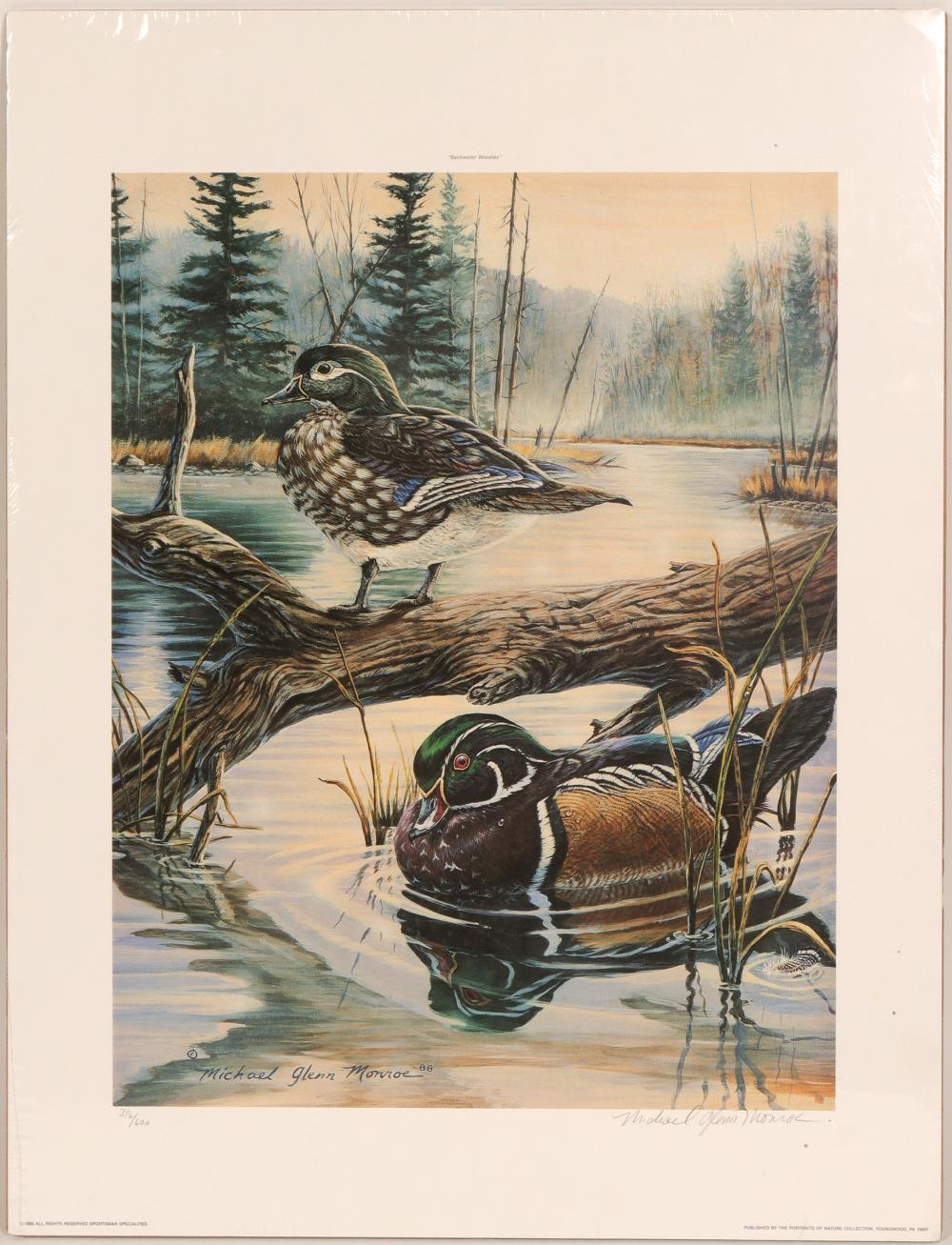 "Print / "" Backwater  Woodies""/ By Michael Glenn Monroe.   (105374)"