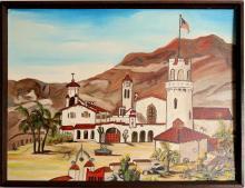 "Lot 1039: Oil Painting / "" Death Valley "" / By June Sandbakken. (105405)"