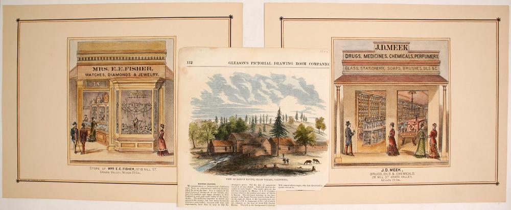 """Store of Mrs E. E. Fisher"" Hand-colored Lithograph, etc.   (74592)"