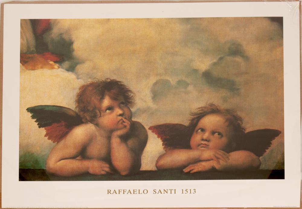 Print / Sixtinische Madona 1513 / By Raffaelo Santi   (105369)