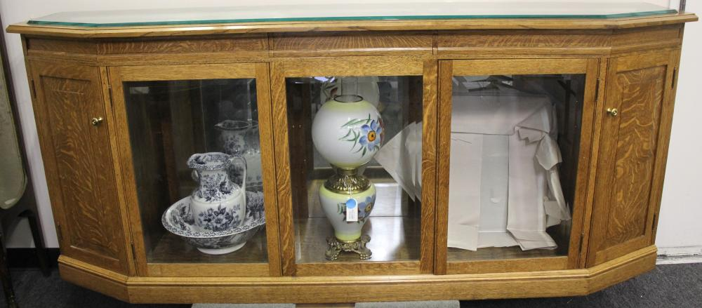 Lot 1063: Custom Oak Display Case (80059)