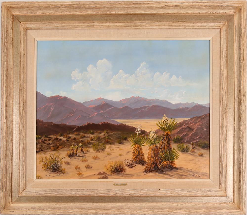 Lot 1066: Golden Day Oil Painting Original Signed by Jean Crowl (106021)