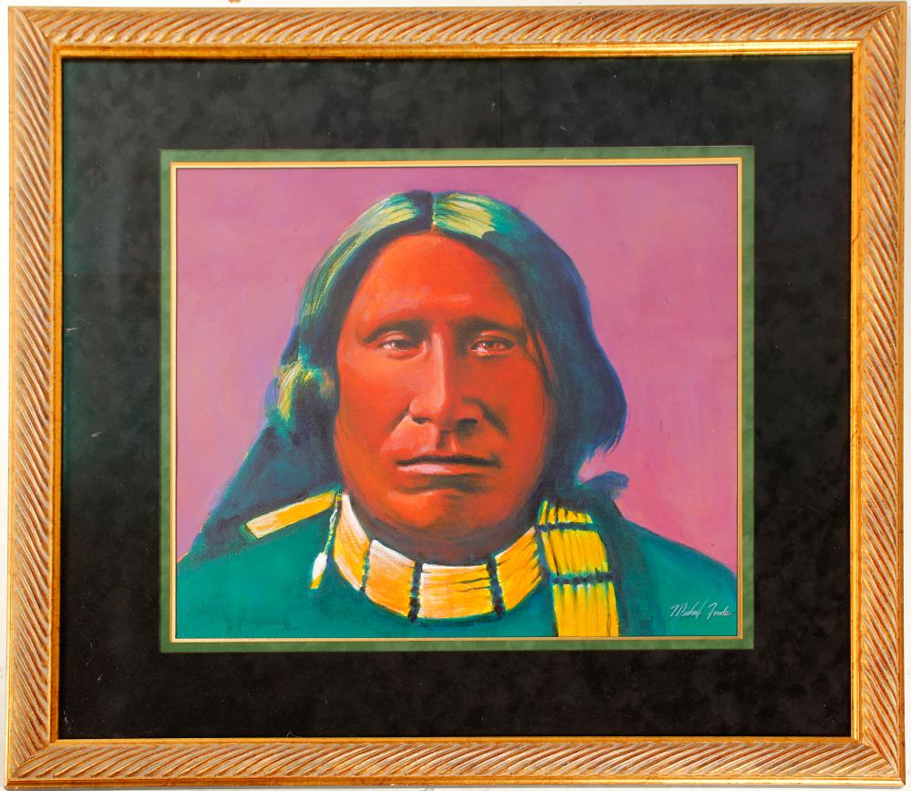 Lithograph (Lithograph of Native American)   (85811)