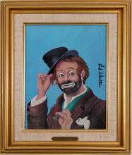 "Lot 1076: Oil Painting by Red Skelton of ""Freddie the Freeloader"" (91348)"