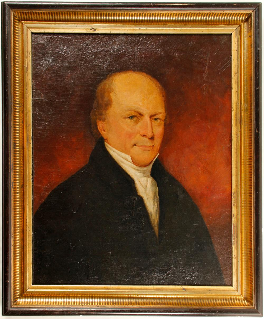 Lot 1079: Portrait of a Man, American, c1750 (57753)