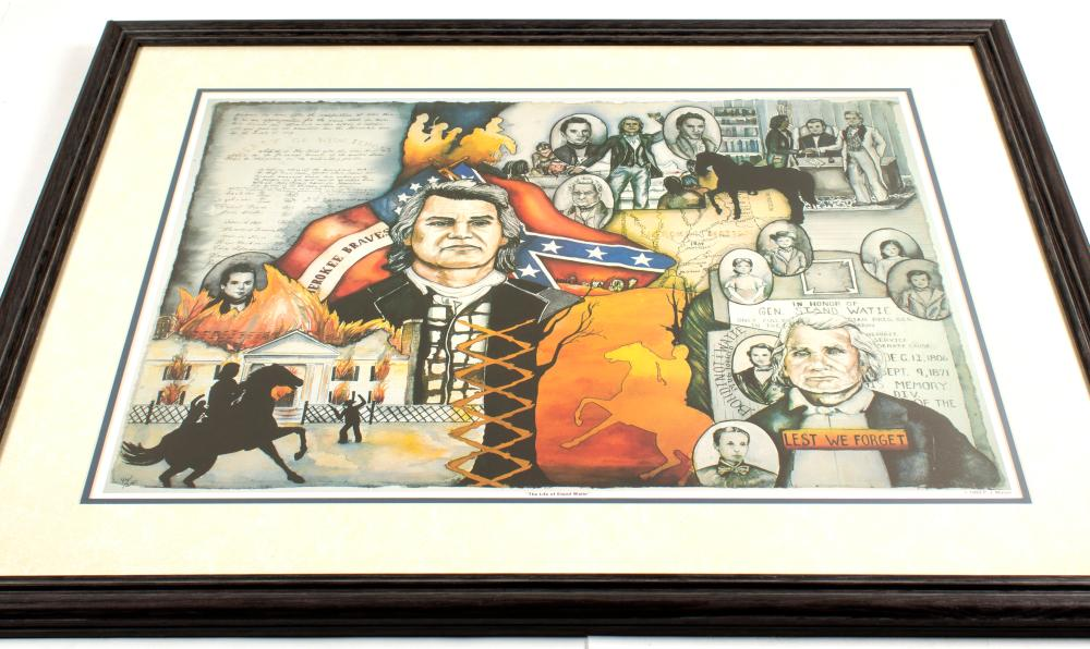 "Print of ""In Honor of General Stand Watie""   (55132)"