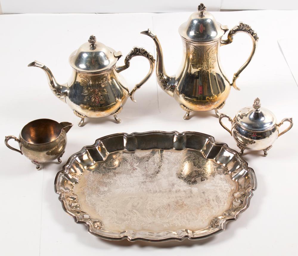 Silverplate Coffee and Tea Service   (56842)