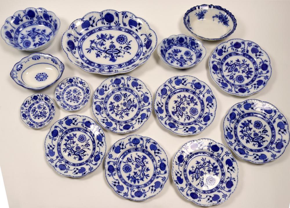 13 Piece Johnson Bros. Plate Set   (106393)