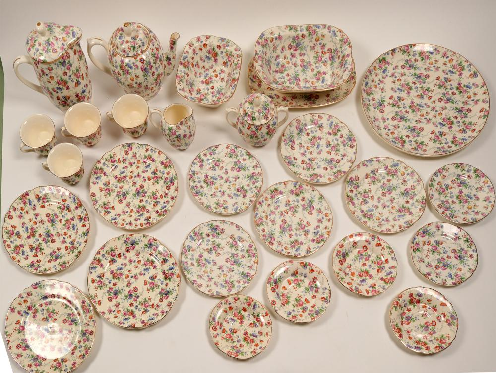 German Tea Set and Dessert Plates   (106396)