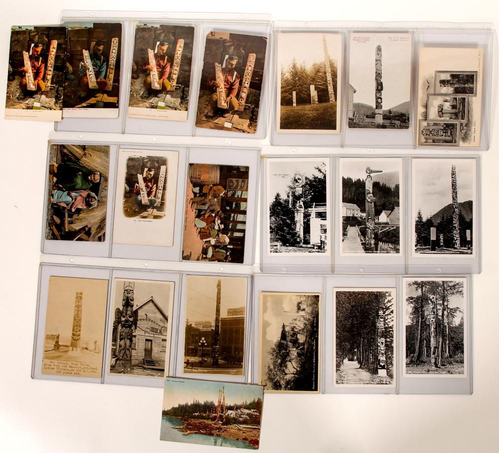 Totem Pole Photo Post Cards   (100514)