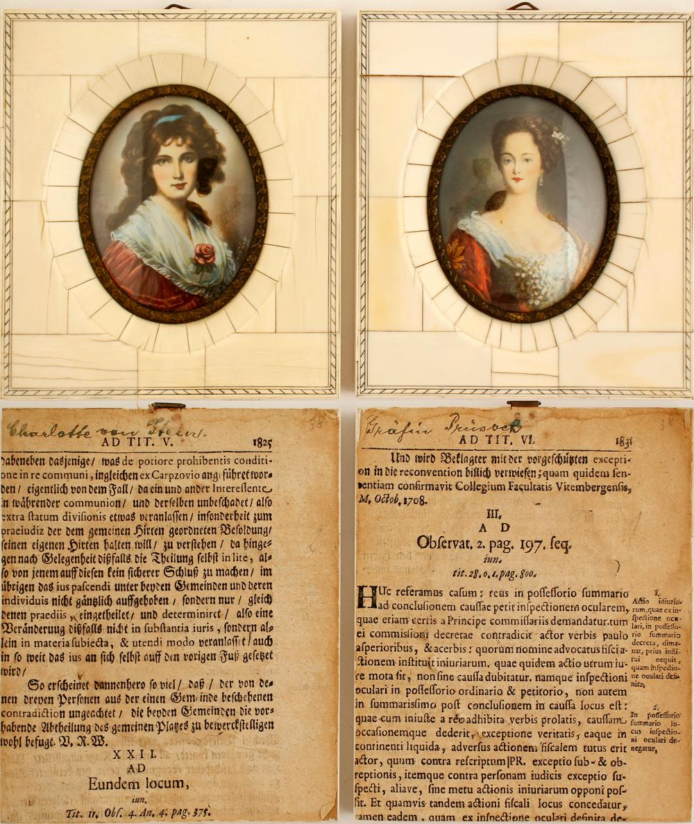 Lot 1117: Two Vintage Ivory Picture Frames (76637)