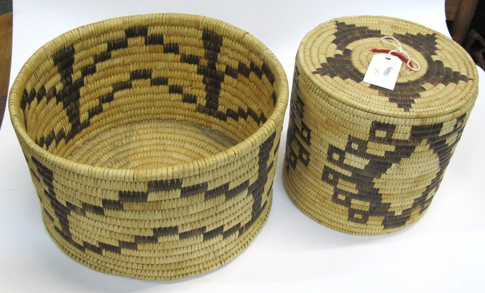 Two Large Papago Baskets   (54850)