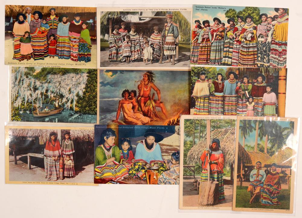 Seminole Indian Postcards   (104624)