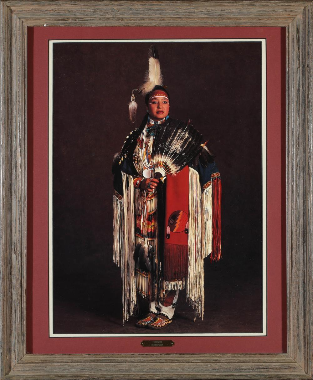 Lot 1150: Native American Woman in Pow Wow Attire (87649)