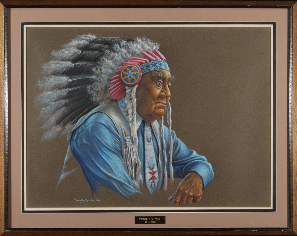Lot 1148: Framed Wm A Moore, Paiute Heritage (87602)