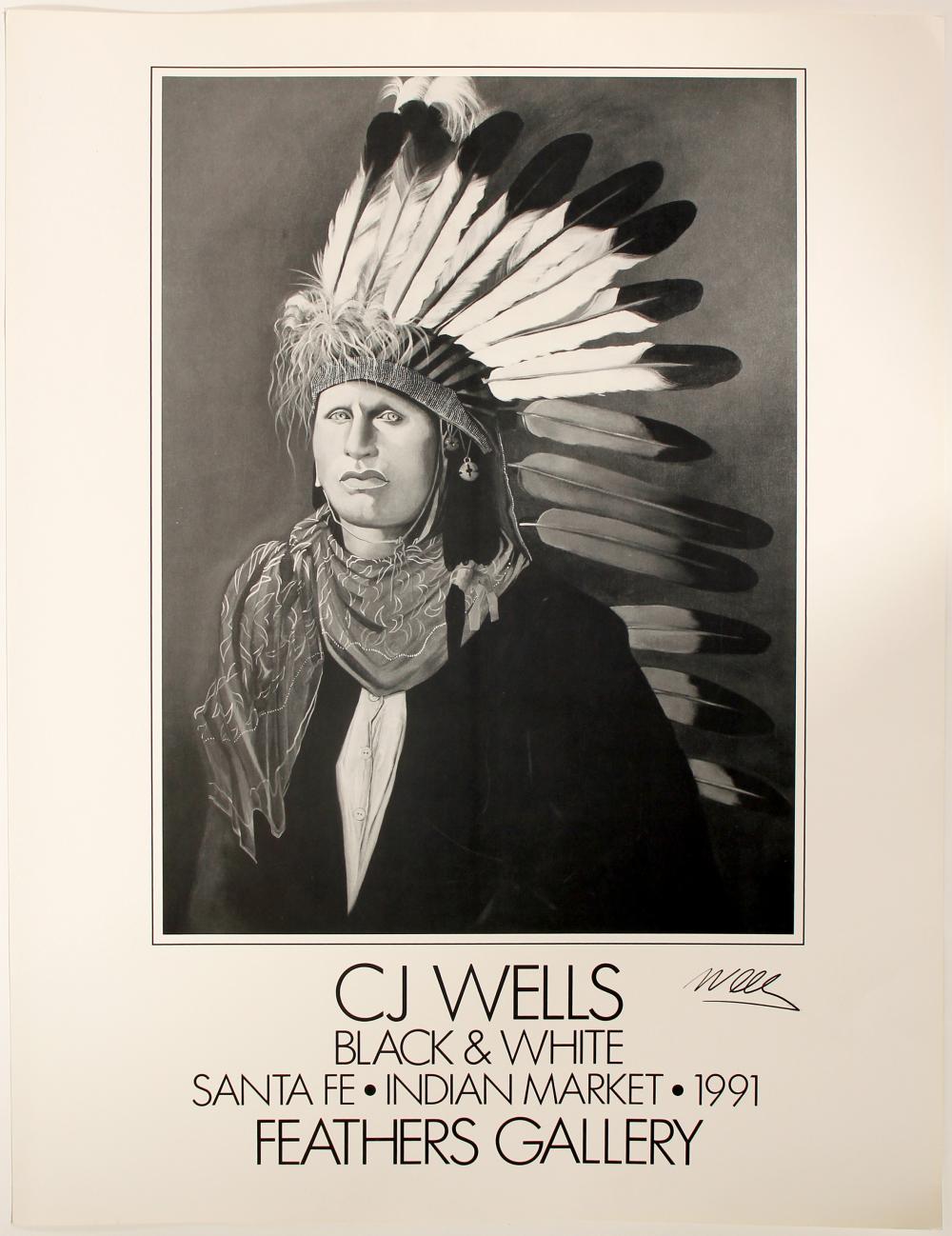 C.J. Wells Poster  (Signed)   (101037)