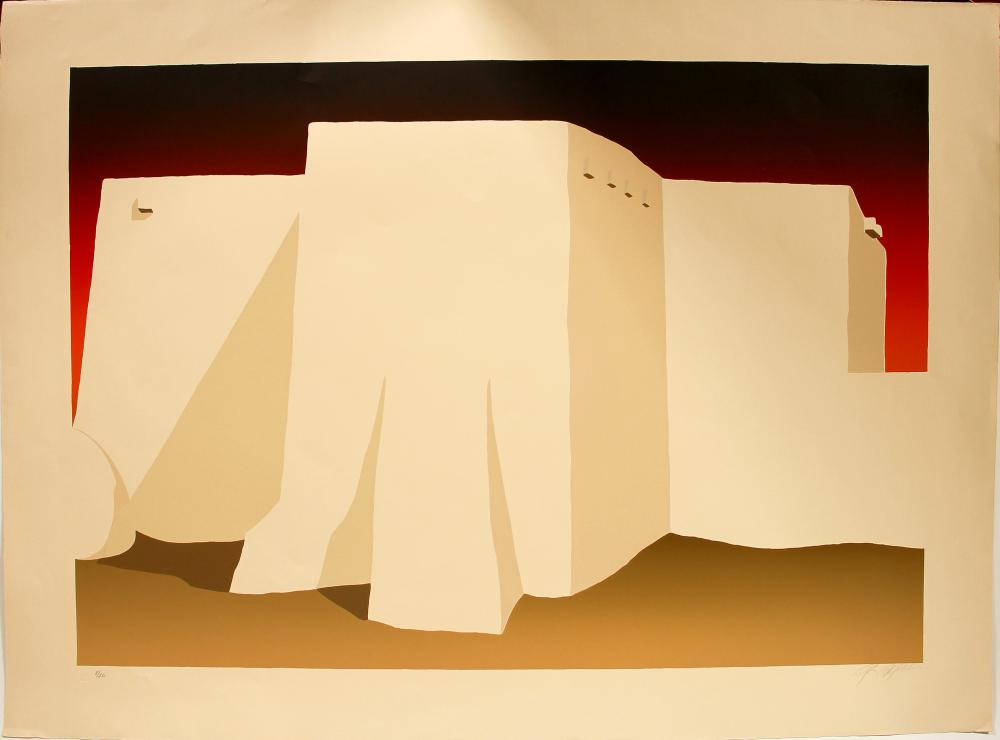 Rancho de Taos Church - Serigraph by Ron Robles   (101034)