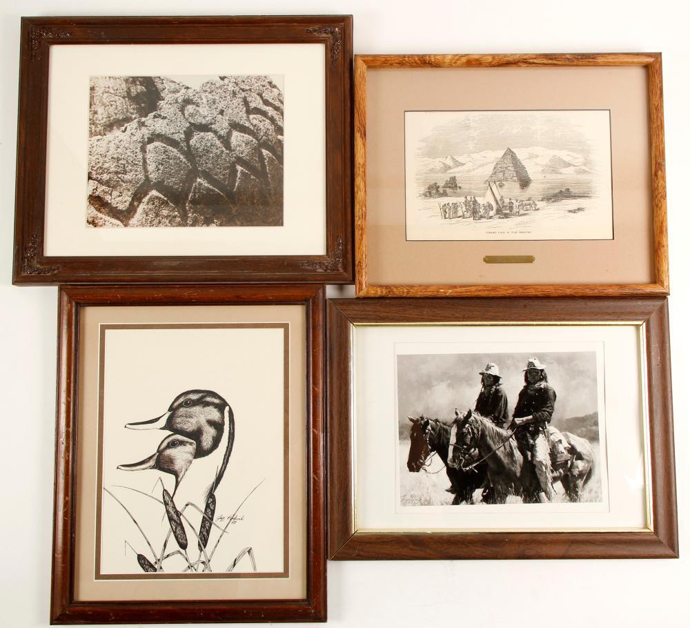 4 Framed Western Prints   (98038)