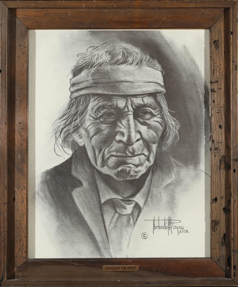 "Lot 1169: ""A Face of the West"" Print by Reyes (87651)"
