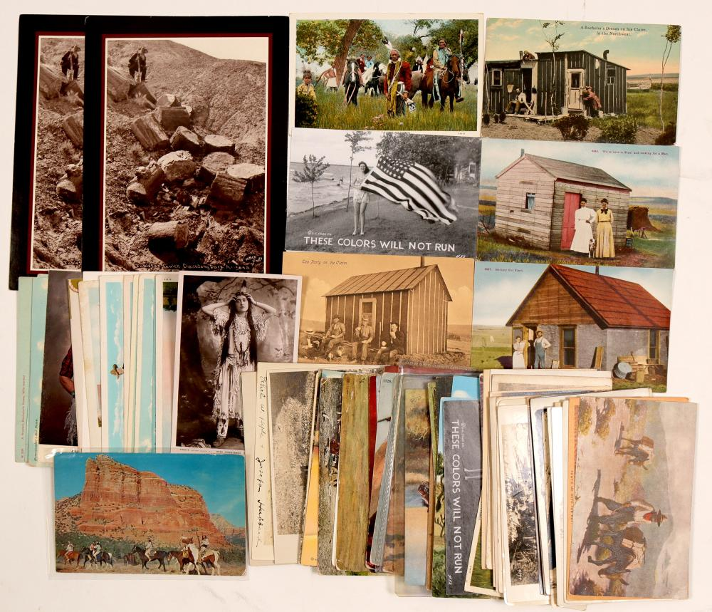 Lot 1181: American Wild West Misc. Western Postcards (104155)