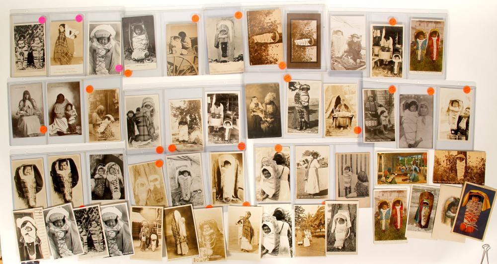 Baby Basket Vintage Postcard Collection   (91408)