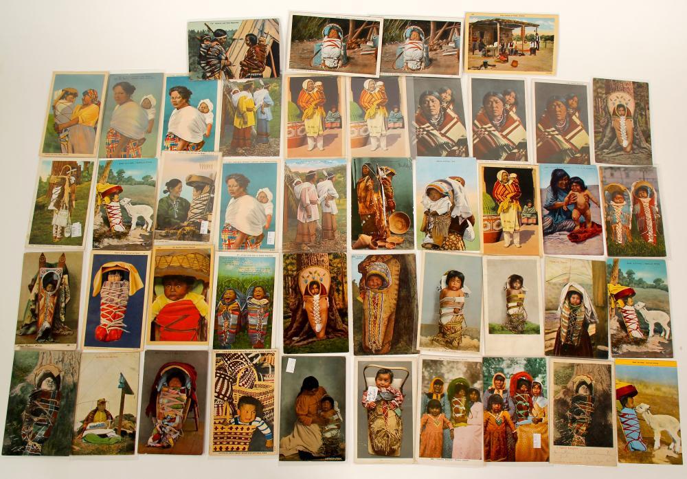 Baby Basket Vintage Postcards Grouping   (91424)