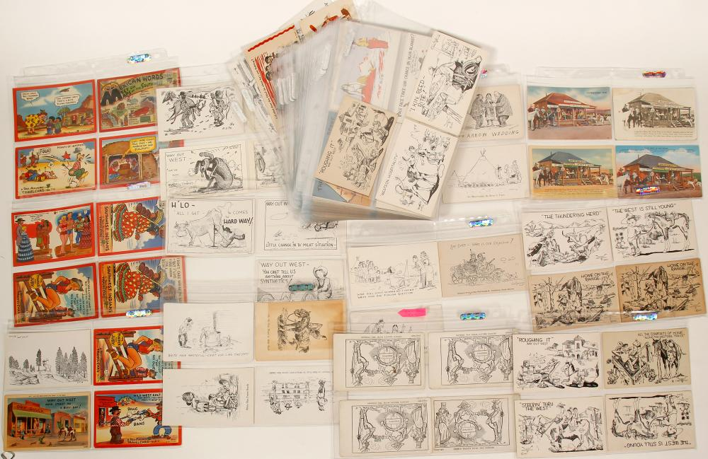 Lot 1198: Collection of Native American and Cowboy Postcards (91410)