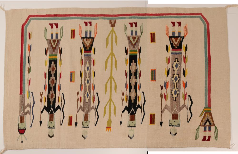 Lot 1130: Yei, Navajo Wool Rug (91335)