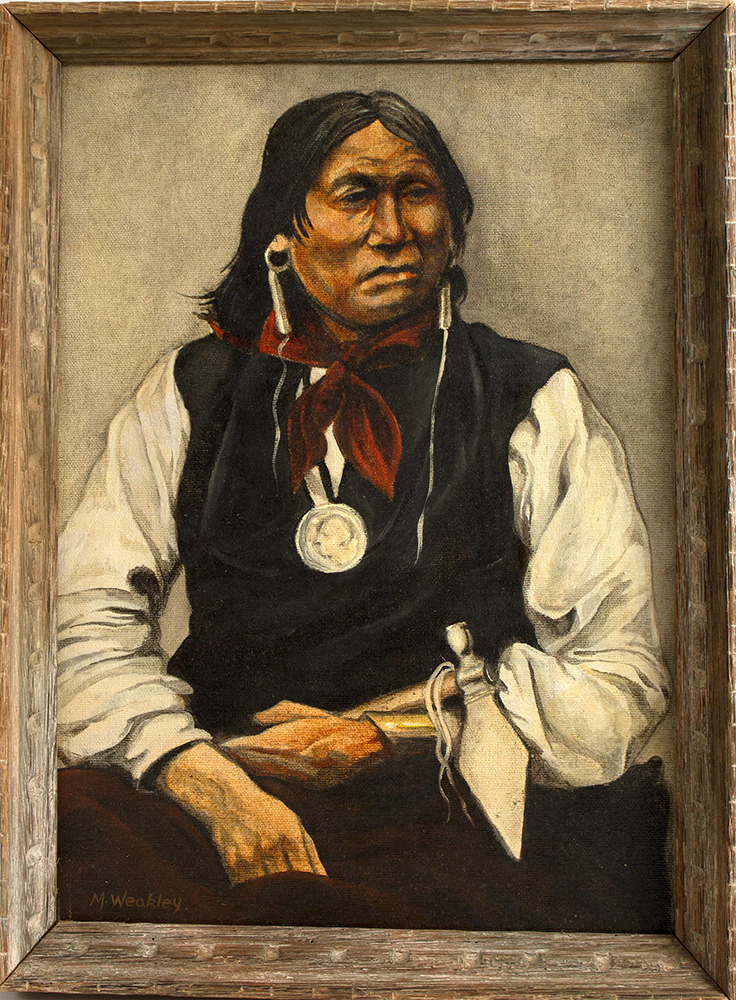 m weakley sitting bull portrait painting. Black Bedroom Furniture Sets. Home Design Ideas