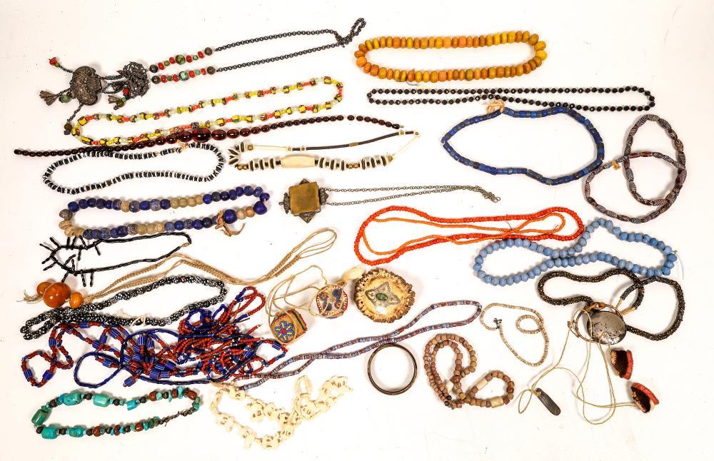 Bead Necklaces and Bone Art [138432]