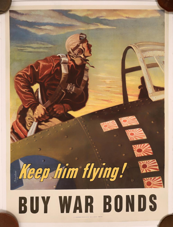 Keep Him Flying! Buy War Bonds Poster by Scheiber [139732]