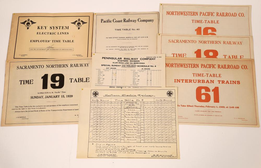 California & Bay Area Railroad Timetable (8) [139368]