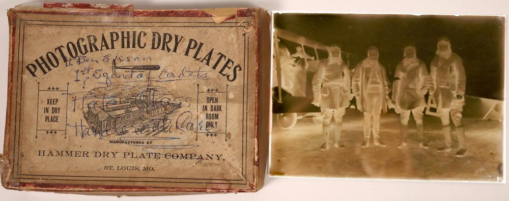 Photographic Dry Plate of Early Aviators [137887]
