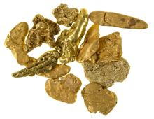 Gold Nuggets from the Bradshaw Mountains (Arizona)