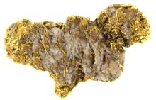 Placer Gold-in-Quartz from the Mokelumne River