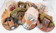 Eight Cloth Carbide Lamp Hats