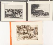 Early California Mining Lithographs