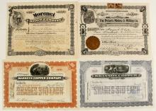 Four Mining Stock Certificates from the Morenci Mining District