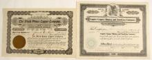 Two Johnson District, Arizona Stock Certificates