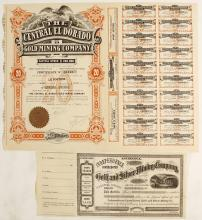 Two Colorado District Mining Stock Certificates