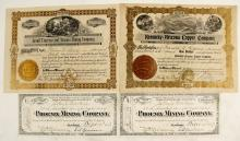 Four Cave Creek District Stock Certificates