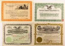 4 Oatman AZ Mining Stock Certificates