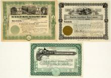 Three Different New Mexico Mining Stock Certificates